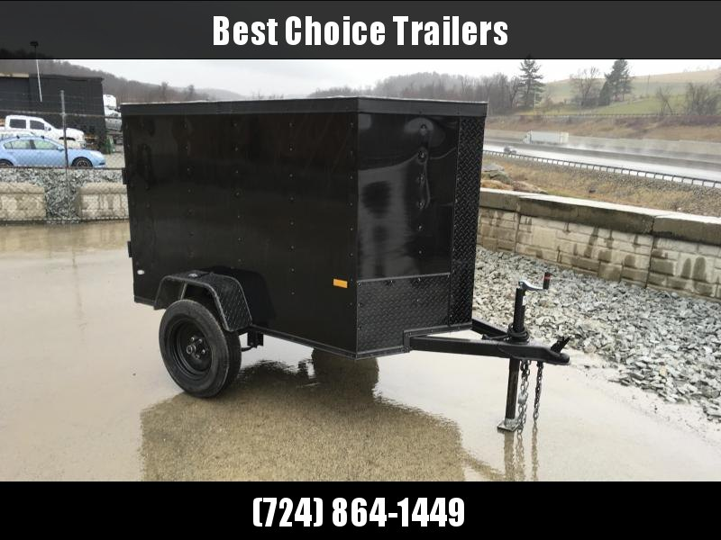 2019 Rock Solid 4x6' Enclosed Cargo Trailer 2000# GVW RS406SA * BLACKOUT PACKAGE * SINGLE SWING DOOR * V-NOSE