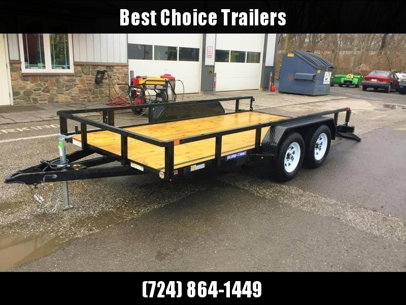 2018 Sure-Trac 7x18' Tube Top Utility Landscape Trailer 7000# GVW * HD GATE * CLEARANCE - FREE ALUMINUM WHEELS