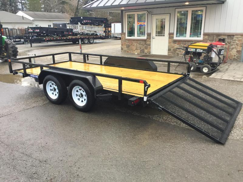 2018 Sure-Trac 7x18' Tube Top Utility Landscape Trailer 7000# GVW * HD GATE