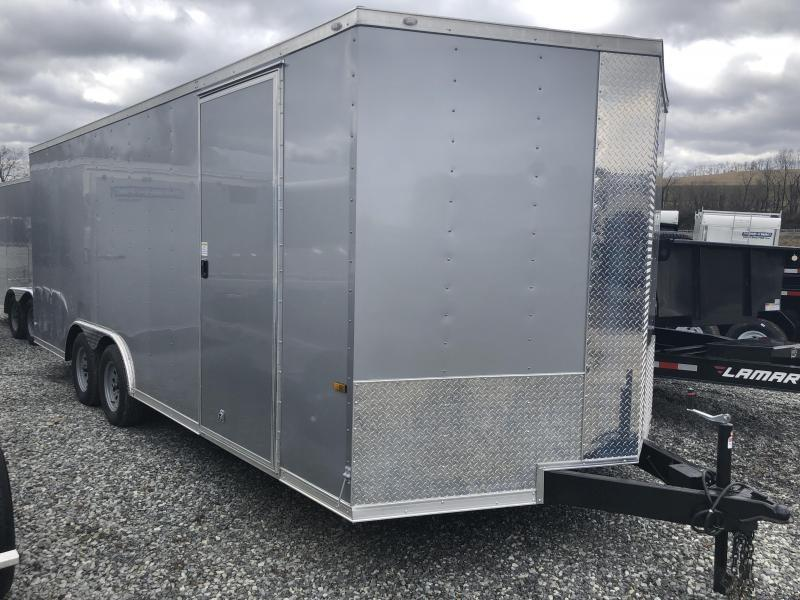 2018 Rock Solid 8.5x20' Enclosed Car Trailer 7000# GVW * SILVER