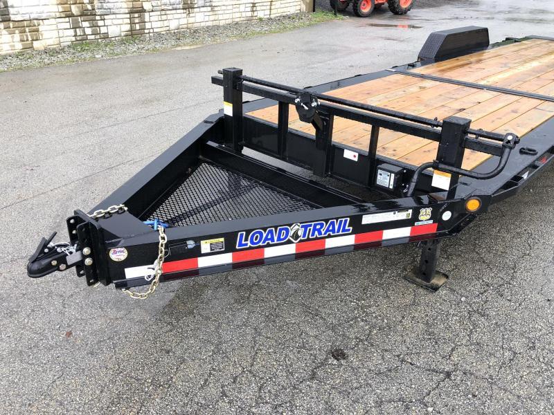 "2019 Load Trail 7x24' Gravity Tilt Equipment Trailer 14000# * TH8324072 * 8"" I-BEAM FRAME * TORSION * STOP VALUE * POWDER PRIMER * DEXTER'S * 2-3-2 WARRANTY * DUAL JACKS * D-RINGS/RUBRAIL * TOOL TRAY * SPARE MT"