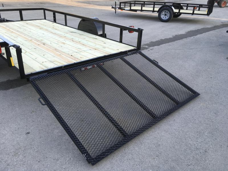 2019 AMO 7x14' Angle Iron Utility Landscape Trailer 2990# GVW w/ Gate * ATV RAMPS * FULL WRAP TONGUE