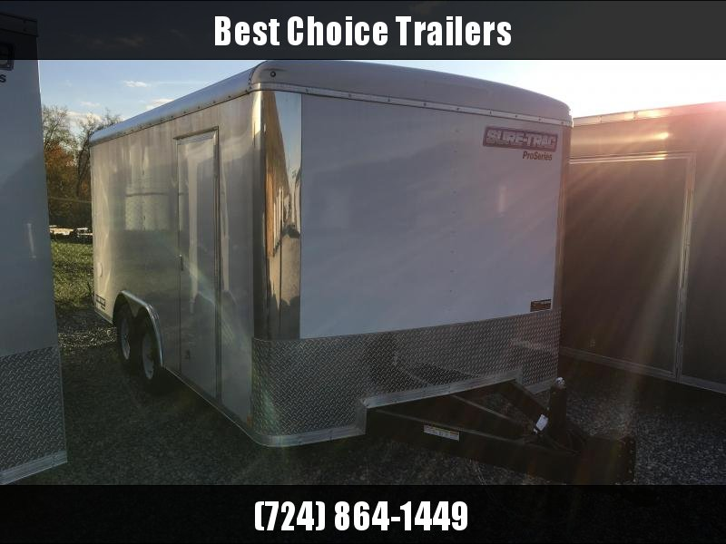 2017 Sure-Trac 8.5x16' PROFESSIONAL LANDSCAPER Enclosed Cargo Trailer 9900# GVW - VARIOUS OPTIONS
