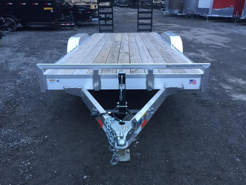 2018 H&H HAD 7x20 ALUMINUM Equipment Trailer 9990# GVW * TORSION * STAND UP RAMPS * SWIVEL D-RINGS * EXTRA STAKE POCKETS