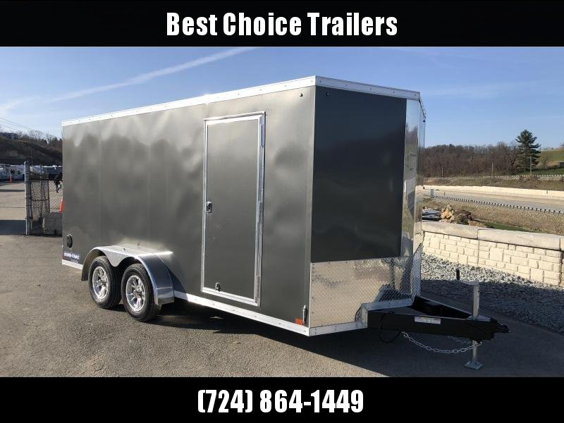 2019 Sure-Trac 7x16' Enclosed Cargo Trailer 7000# GVW * CHARCOAL
