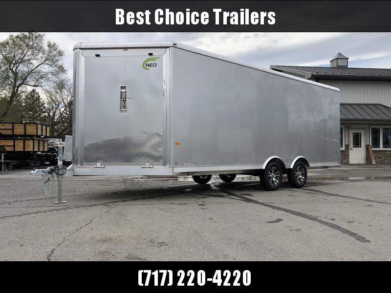 2019 NEO Aluminum 8.5x20' 7000# Multi-Sport/Enclosed Car Trailer NMS2085 * FRONT RAMP * WHITE VINYL WALLS * ALUMINUM WHEELS * SILVER EXTERIOR * UTV HAULER in Ashburn, VA