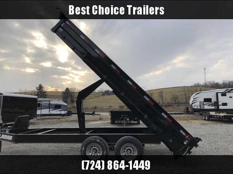 2018 Lamar 8x16' Deckover Dump Trailer 14000# GVW - FOLD DOWN SIDES * TARP KIT * 10K JACK * SPARE MT * 7 GAUGE FLOOR