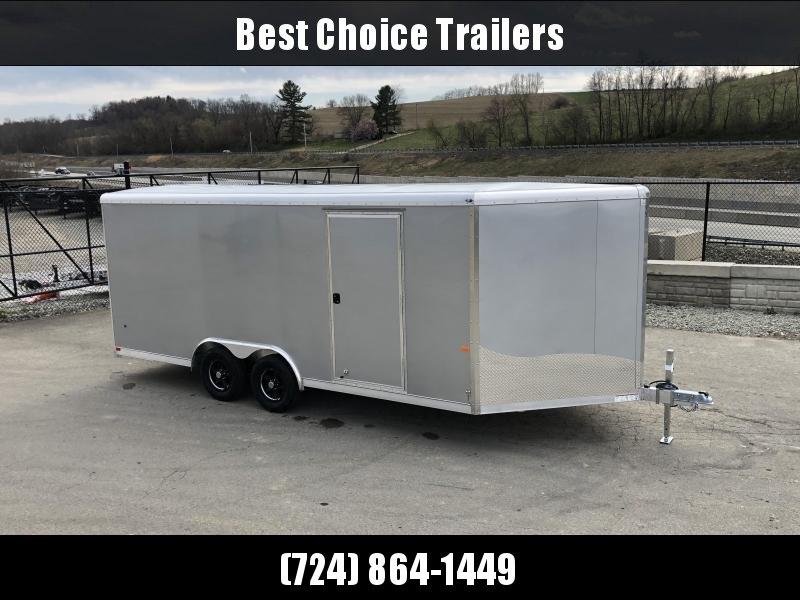 2019 NEO 8.5x18' NCBR1885 Aluminum Enclosed Car Hauler Trailer 7000# * ROUND TOP * ESCAPE HATCH * ALUMINUM WHEELS