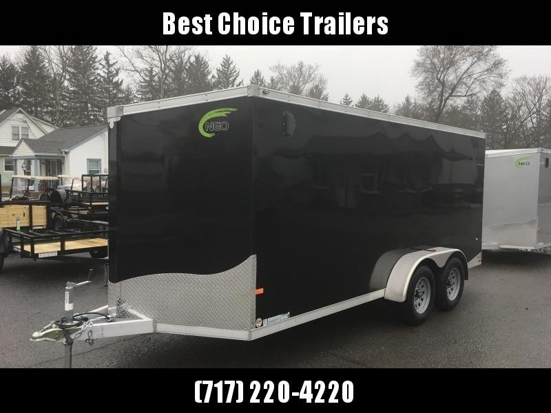 2019 Neo 7x16 NAVF Aluminum Enclosed Cargo Trailer * RAMP DOOR * CHARCOAL * SIDE VENTS