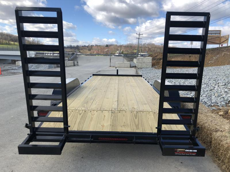 2018 AMO 7x18' Equipment Trailer 9990# GVW * CLEARANCE - FREE ALUMINUM WHEELS