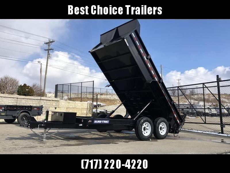 2019 Sure-Trac 7x14' LowPro HD Dump Trailer 14000# GVW