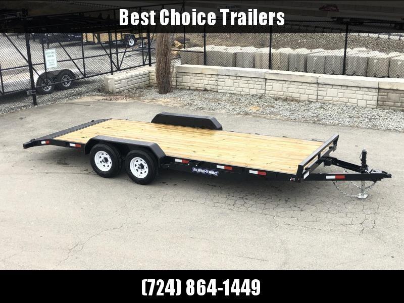 2020 Sure Trac 7x20' 9900# Wood Deck Car Hauler * REAR SLIDE IN RAMPS * 7000# JACK