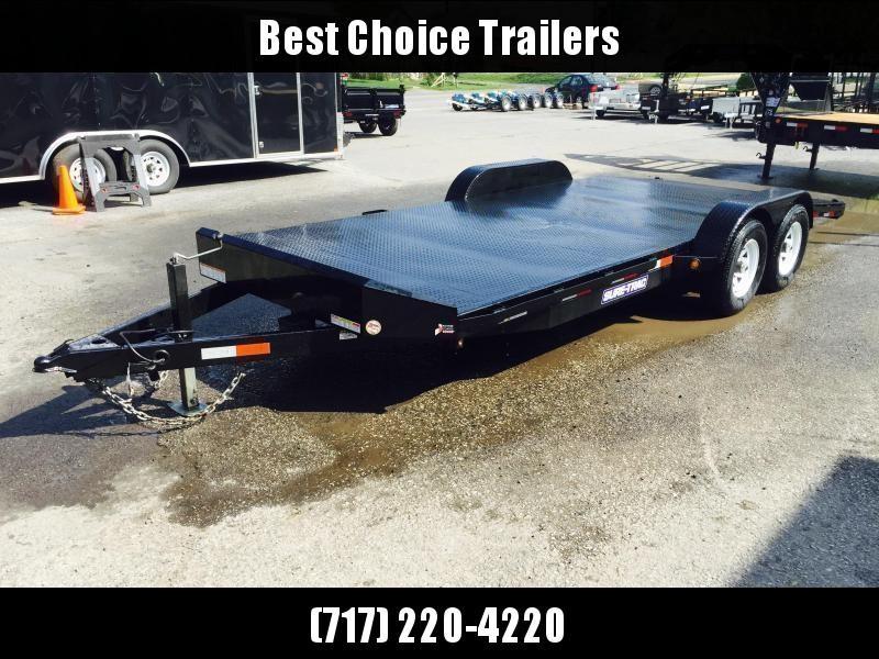 2018 Sure-Trac 7x18 9900# Steel Deck Car Trailer Low Profile/Low Angle DROP LEG JACK