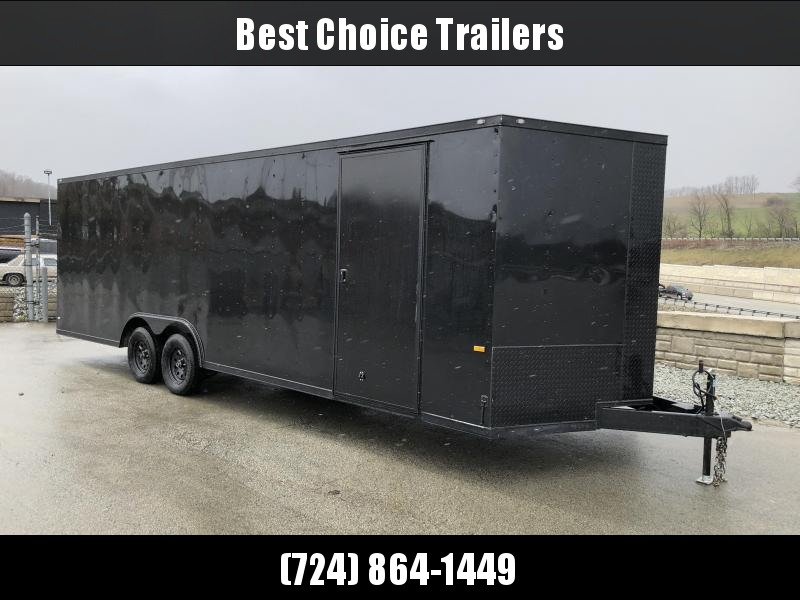 2018 Rock Solid 8.5x24' Enclosed Car Trailer 7000# GVW - BLACKOUT PACKAGE