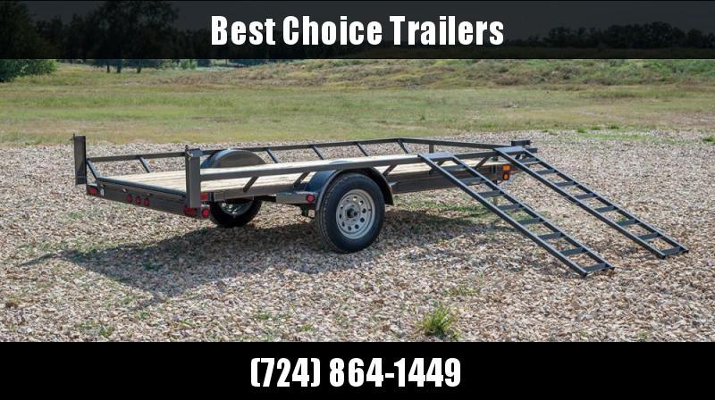2018 Maxxd 7x12' ATV Hauler Trailer 2990# GVW ASX8312 * ATV RAMPS * SPRING ASSIST * SPARE TIRE MOUNT * SPARE TIRE