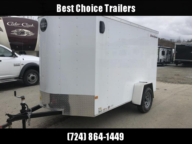 2019 Wells Cargo 6x10' Fastrac Enclosed Cargo Trailer 2990# GVW * WHITE EXTERIOR * RAMP DOOR