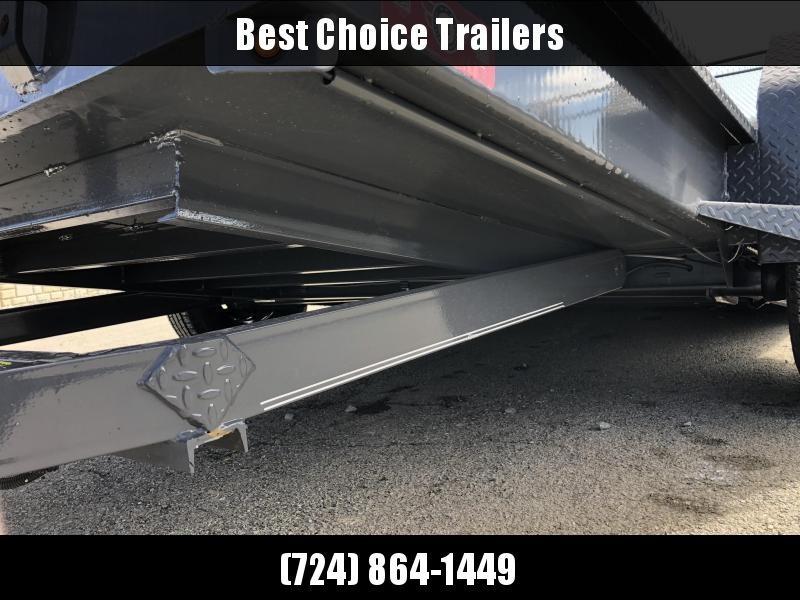 2019 Lamar 59x10' Single Axle Scissor Gravity Tilt Equipment Trailer 7000# * SH591017 * TORSION * STEEL FLOOR 3/16 * WRAPPED SIDES * EXTRA D-RINGS * SPARE MOUNT * CHARCOAL