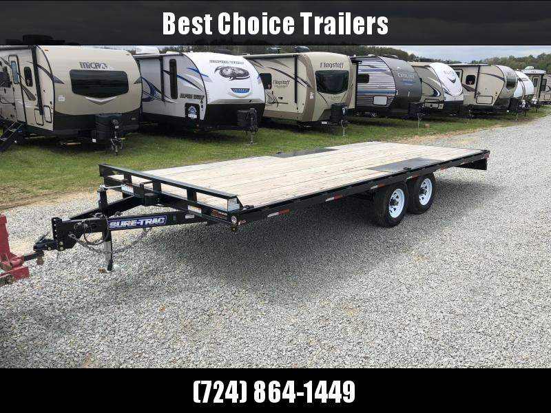 2017 Sure-Trac 102x20' LP Straight Deckover Trailer 9900# * 8' SLIDE OUT RAMPS