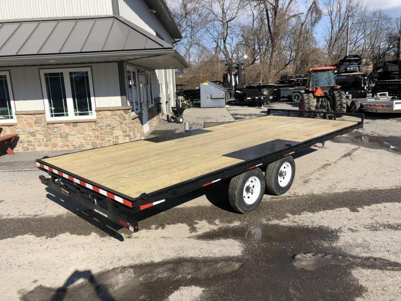 USED 2017 Sure-Trac 102x20' LP Straight Deckover Trailer 9900# * 8' SLIDE OUT RAMPS