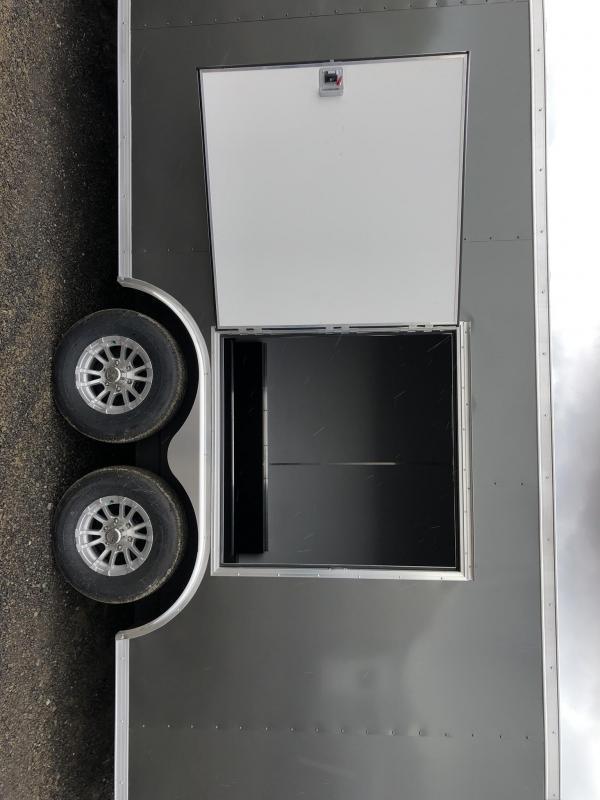 "2019 Sure-Trac 8.5x24' Enclosed Car Trailer 9900# GVW * DELUXE * WHITE * 7K JACK * ESCAPE HATCH * FINISHED WALLS * NUDO FLOOR & RAMP * TORSION * 48"" DOOR & MORE"