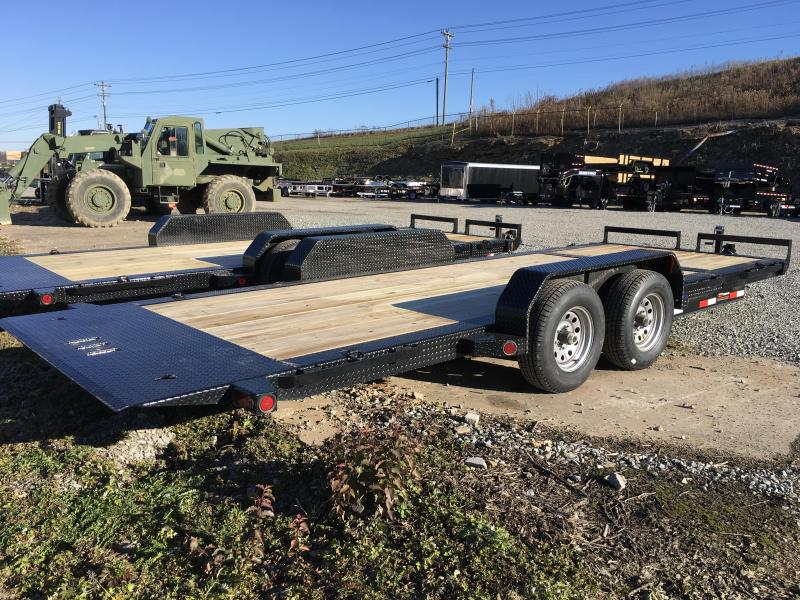 2018 Iron Bull 7x16+4' Tilt Equipment Trailer 9990# GVW - STOP VALVE TORSION AXLES * CLEARANCE