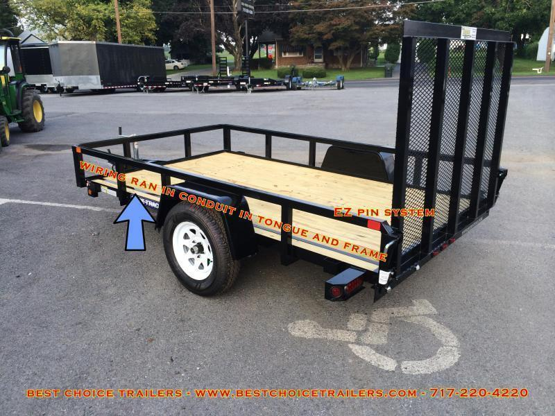 2018 Sure-Trac 6x12' 2990# Tube Top Landscape Utility Trailer * CLEARANCE - FREE ALUMINUM WHEELS