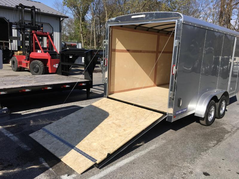 2019 Sure-Trac 7x16' Enclosed Cargo Trailer 7000# GVW * SILVER FROST