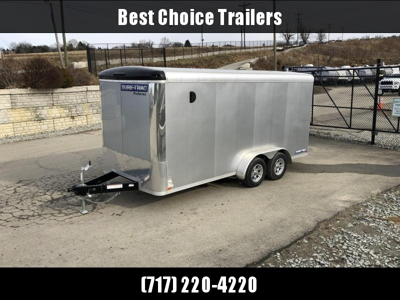 2019 Sure-Trac 7x16' Enclosed Cargo Trailer 7000# GVW * SILVER FROST in Ashburn, VA