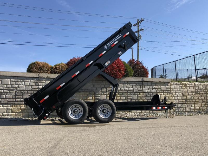 2019 Iron Bull 7x14' SUPER LOW Dump Trailer 14000# GVW RAMPS * TARP * SCISSOR * SPARE MOUNT * DROP AXLES