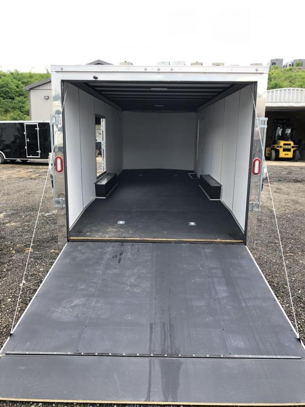 "2019 Sure-Trac 8.5x24' Enclosed Car Trailer 9900# GVW * DELUXE * CHARCOAL * SCREWLESS EXTERIOR * 7K JACK * ESCAPE HATCH * FINISHED WALLS * NUDO FLOOR & RAMP * TORSION * 48"" DOOR & MORE"