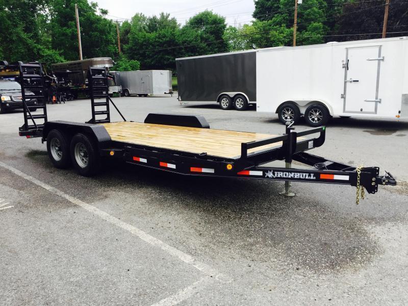 2020 Ironbull 7x20' Lowboy Equipment Trailer 9990# GVW STAND UP RAMPS