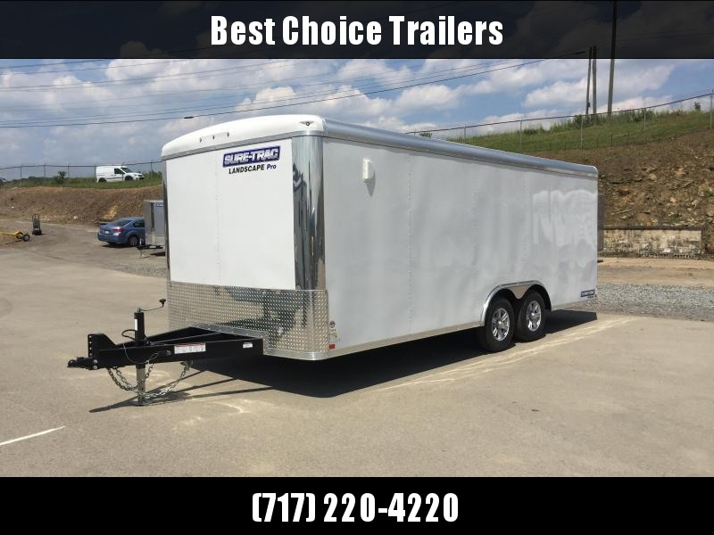 2018 Sure-Trac 8.5x20 STR Landscape Pro Package Trailer 9900# GVW