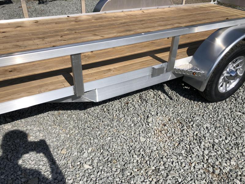 2018 H&H 7x16' TRSA Aluminum Utility Landscape Trailer 7000# GVW * ALUMINUM WHEELS * BI-FOLD GATE