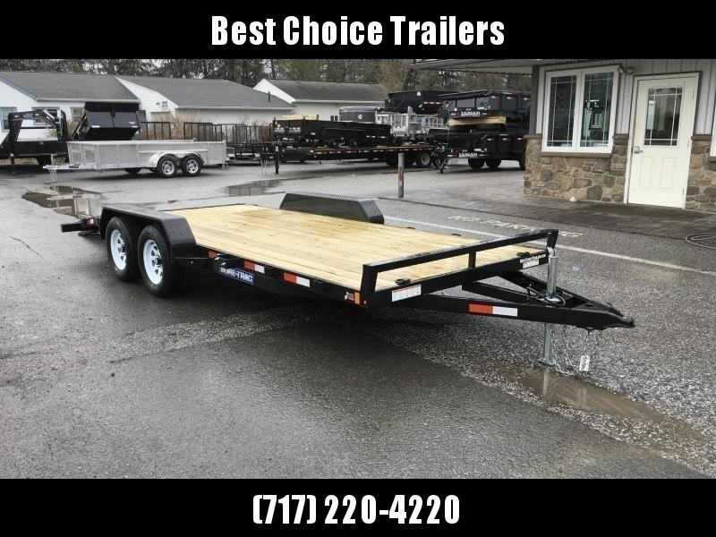 2019 Sure-Trac CHW 7x18 7000# Wood Deck Car Hauler