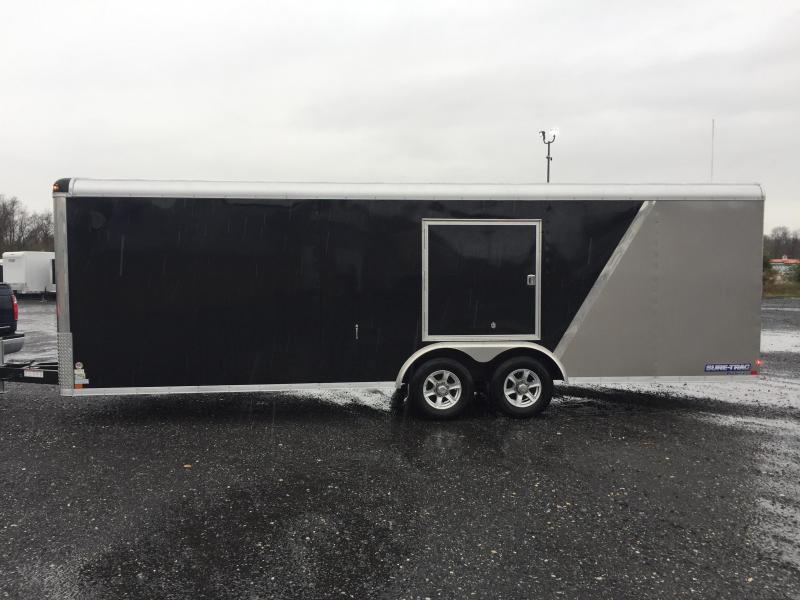 2017 Sure-Trac 8.5x20' 9900# STRCH Commercial Enclosed Cargo Trailer ROUND TOP RAMP DOOR BLACK/PEWTER ALUMINUM WHEELS TORSION ESCAPE HATCH FINISHED FLOOR AND WALLS 2-TONE