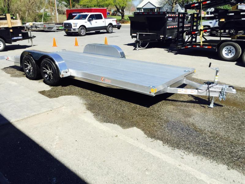 2018 Kiefer 7x20' 7000# Aluminum Car Hauler TORSION EXTRUDED FLOOR ALUMINUM WHEELS LOW LOAD ANGLE 6' RAMPS