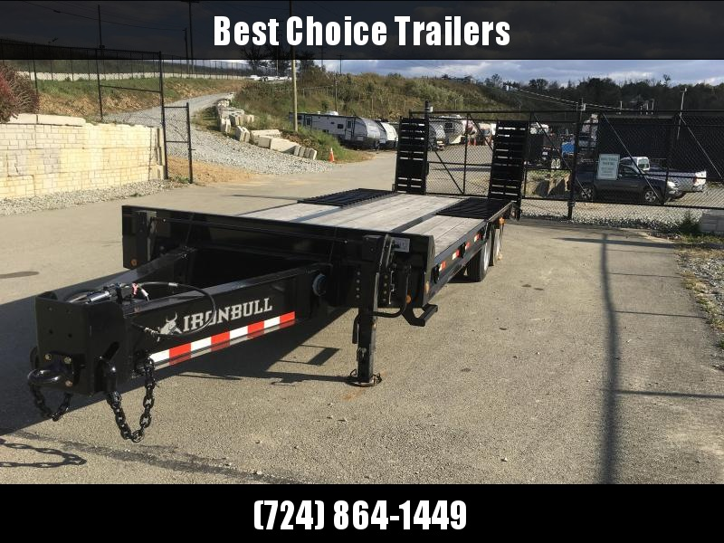 2018 Ironbull 102x20+6' Air Brake beavertail Flatbed Deckover Trailer 50000# GVW * FLP0226252 * CLEARANCE