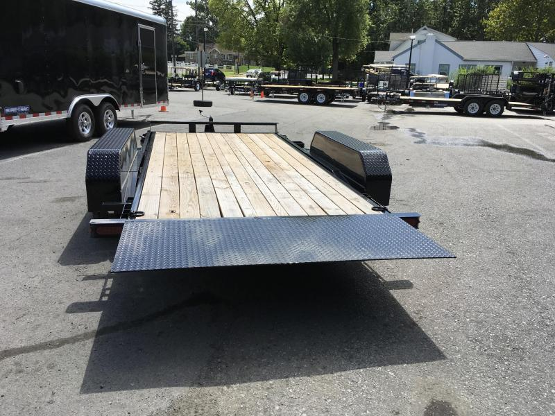 2018 Sure-Trac 7x18 Tilt Bed Equipment Trailer 9900# GVW ADJUSTABLE COUPLER