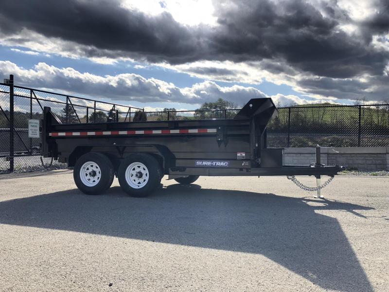 2019 Sure-Trac 6x12' Dump Trailer 9900# GVW * SCISSOR HOIST * DROP LEG JACK * UNDERMOUNT RAMPS * COMBO GATE