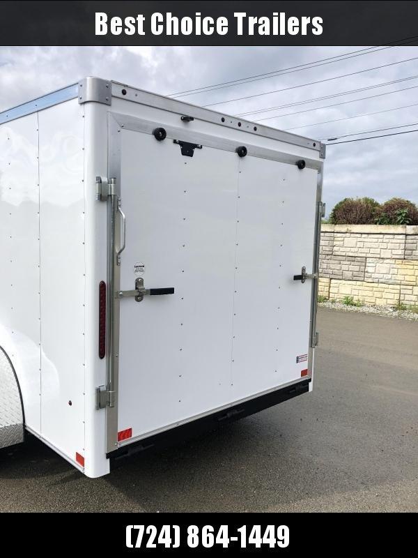 2019 Wells Cargo 7x14' Road Force Enclosed Cargo Trailer 7000# GVW * WHITE * RAMP DOOR * V-NOSE * .030 ALUM EXTERIOR * 1 PC ALUM ROOF * ARMOR GUARD * CLEARANCE