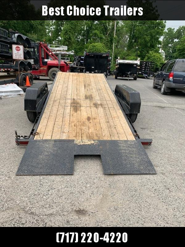 2016 SureTrac 7x18' 14000# GVW Gravity Tilt Equipment Trailer * TOOLBOX