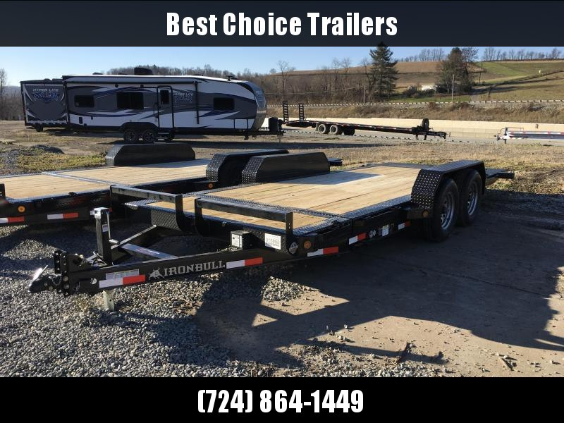 2018 Iron Bull 7x16+2' Tilt Equipment Trailer 9990# GVW - STOP VALVE TORSION AXLES * CLEARANCE - FREE ALUMNIUM WHEELS