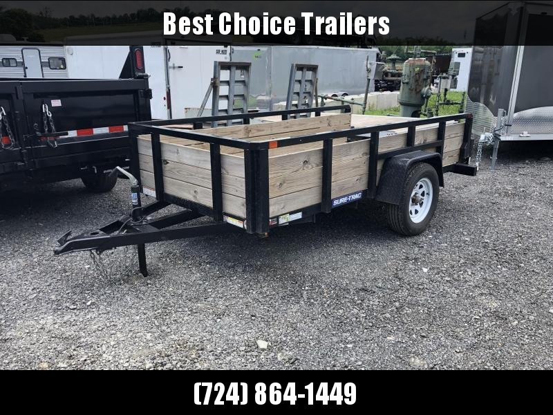 USED 2018 Sure-Trac 5x10' Tube Top 3-Board High Side Utility Landscape Trailer 2990# GVW