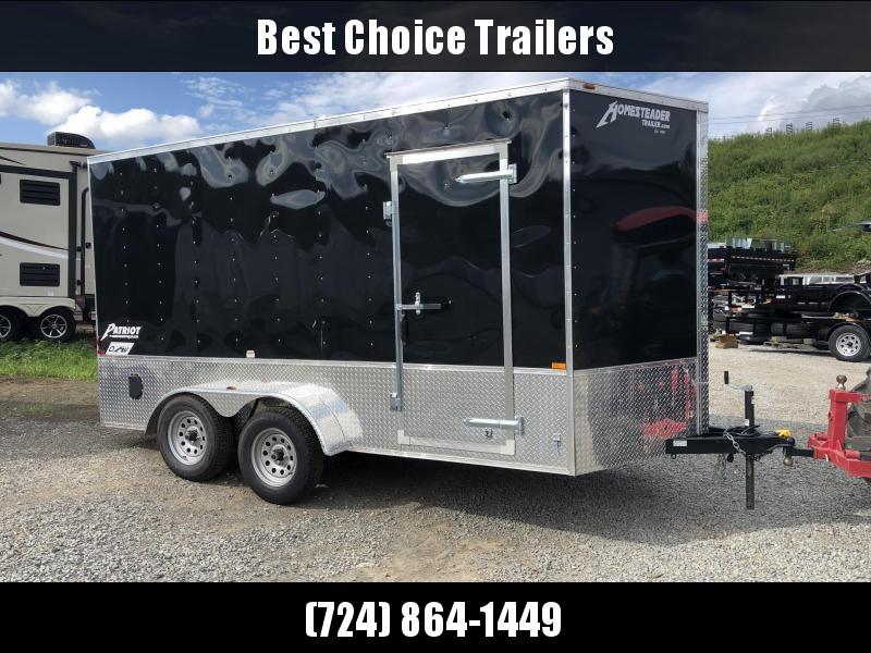2018 Homesteader Patriot 7x14' 7000# GVW Enclosed Cargo Trailer * BLACK W/ ATP SIDES * UTV PACKAGE - 7' HEIGHT *