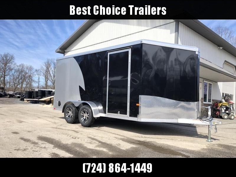 "2019 Neo 7x14 NAMR Aluminum Enclosed Motorcycle Trailer * VINYL WALLS * ALUMINUM WHEELS * +6"" HEIGHT * NUDO FLOOR & RAMP * BLACK & SILVER in Ashburn, VA"