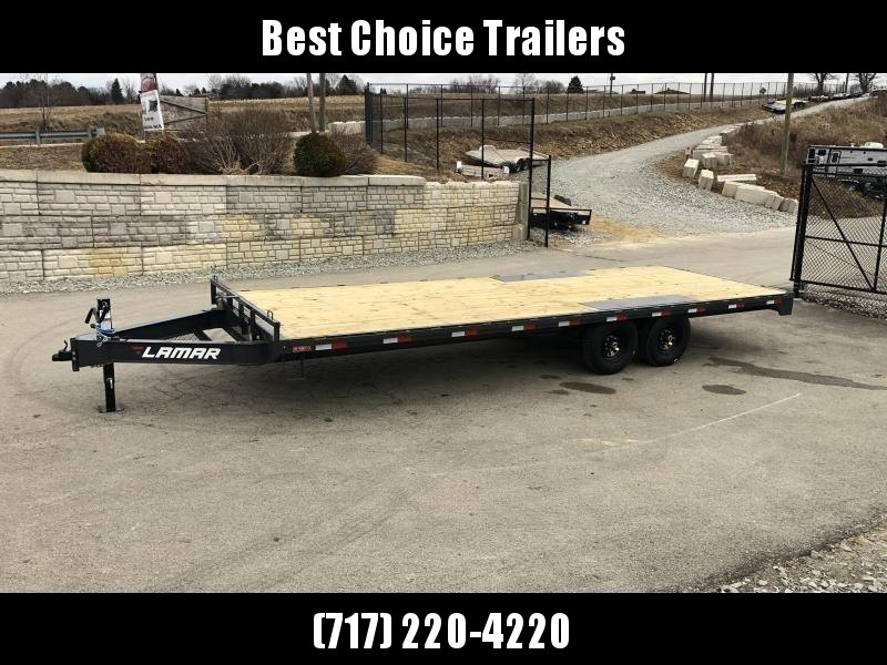 2019 Lamar F8 102x20' Flatbed Deckover Trailer 14000# GVW * CHARCOAL * 8' SLIDE IN RAMPS