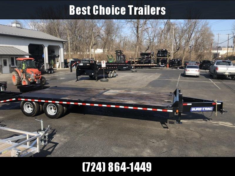 2019 Sure-Trac 102x20+5' HD LowPro Beavertail Deckover 22500# GVW * OAK BEAVERTAIL/OAK DECK/OAK RAMPS * PAVER SPECIAL