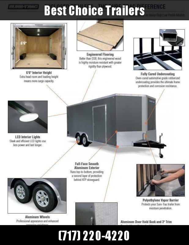 2019 Sure-Trac 6x10 STW Enclosed Cargo Trailer Ramp Door * WHITE * STW7210SA