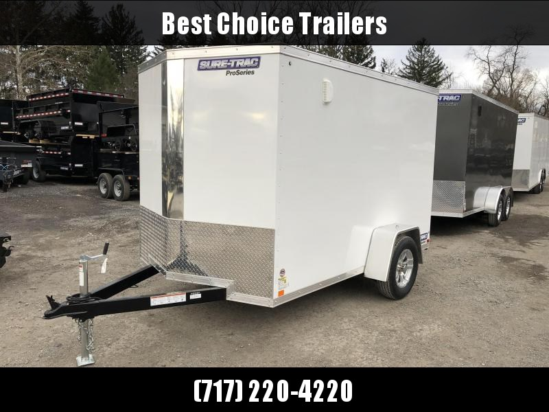 2019 Sure-Trac 6x10 STW Enclosed Cargo Trailer Ramp Door * WHITE * STW7210SA