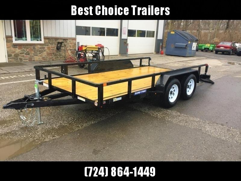 2018 Sure-Trac 7x18' Tube Top Utility Landscape Trailer 7000# GVW